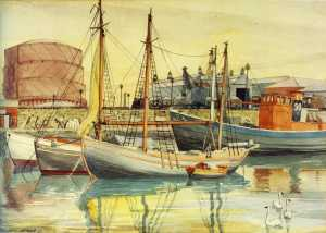 Boats at Anchor - Grand Canal Quay049